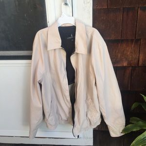 vintage beige dad jacket